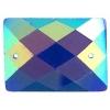 Opal Bright Sew-on Stone 10pcs Rectangle 18x25mm Blue Aurora Borealis